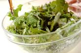 大葉と菊菜のかき揚げの作り方1