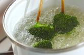 ブロッコリーのナメタケ和えの作り方1