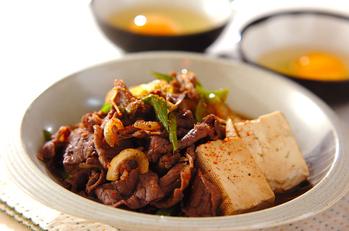 牛肉のすき焼き風炒め煮