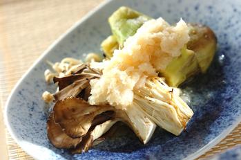 焼き野菜のおろし甘酢のせ