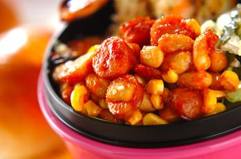 大豆とソーセージのチリコンカン風