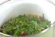 菊菜とシメジの煮物の作り方2