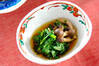 菊菜とシメジの煮物の作り方の手順