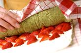 抹茶イチゴロールケーキの作り方11