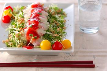 鯛の野菜たっぷりサラダ