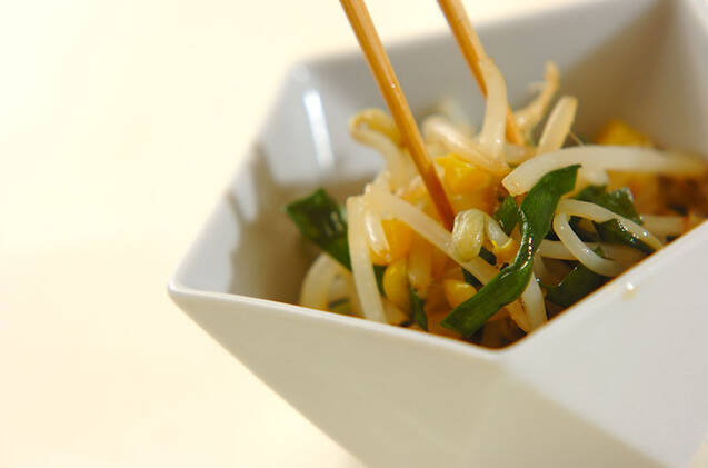 モヤシとニラの炒め浸しの作り方の手順7