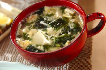 豆腐とふんわり卵のスープ