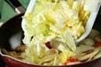白菜と鶏肉のサッと炒めの作り方2