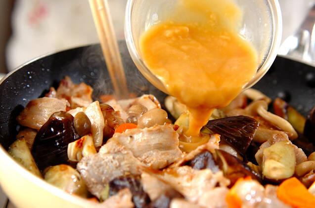 豚バラ肉の白みそ炒めの作り方の手順7