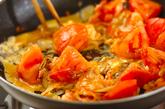 トマトとエビの卵とじの作り方3