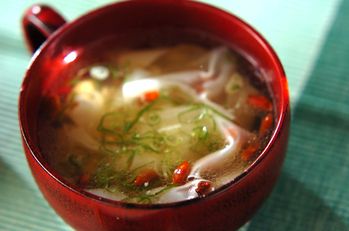 簡単ワンタン風スープ