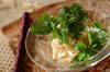 明太子のエスニック素麺の作り方の手順