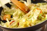 キャベツとエビの豆乳クリーム煮の作り方2