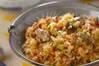 カキの炊き込みご飯の作り方の手順