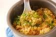 カキの炊き込みご飯の作り方の手順5