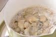 カキの炊き込みご飯の作り方の手順1