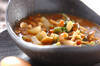 キノコと納豆のおみそ汁煮の作り方の手順
