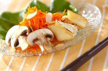 ニンジンと焼きチーズのサラダ