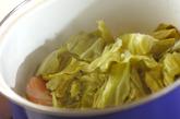ソーセージと春キャベツの煮物の作り方2