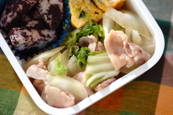 白菜と豚バラの煮浸し