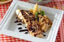 白身魚のバルサミコソテー