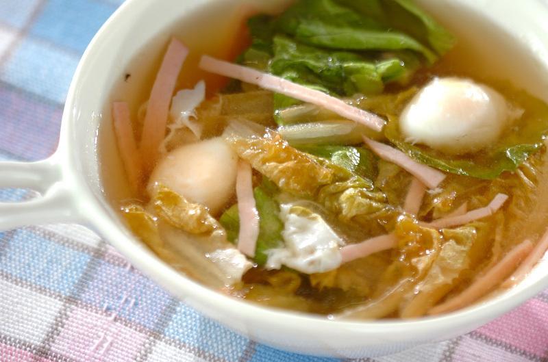 1.サラダ菜のスープ
