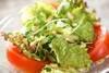サニーレタスのサラダの作り方の手順