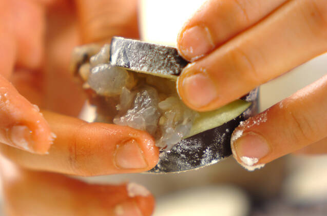 プリプリエビのはさみ揚げの作り方の手順5