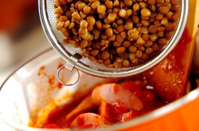 レンズ豆のカスレ風の作り方の手順6