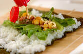 サラダ巻きずしの作り方3
