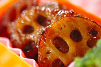 レンコンのバルサミコ酢ソテー