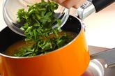 春菊と豆腐のみそ汁の作り方2