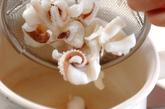 ゆでイカゲソと野菜の和え物の作り方1
