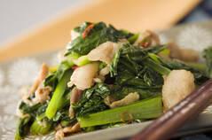 小松菜と豚肉の炒め物