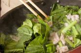 小松菜と豚肉の炒め物の作り方2