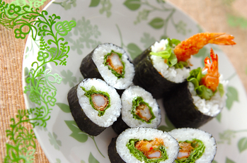スパイシーエビ巻き寿司