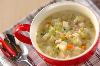 根菜とキャベツのミルクスープ