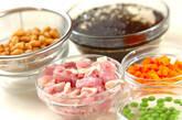 大豆とヒジキの梅煮の下準備1
