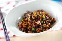 大豆とヒジキの梅煮