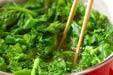 菜の花のマヨからし和えの作り方3