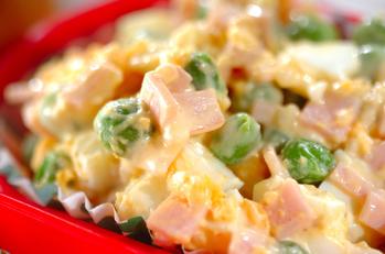 卵とグリンピースのサラダ