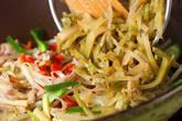 ザーサイ椒肉絲の作り方8