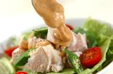 ゆで鶏と野菜のゴママヨがけの作り方3