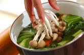 チンゲンサイとニンジンの塩炒めの作り方6
