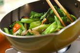 チンゲンサイとニンジンの塩炒めの作り方7
