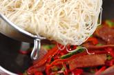 ランチョンミート入り素麺チャンプルーの作り方2