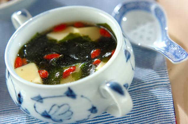 卵豆腐の中華スープの画像