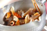 お手軽食材で!ちくわとコンニャクの煮物の作り方3