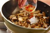 キノコのピリ辛甘酢炒めの作り方1