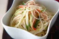 ツナマヨ素麺サラダ